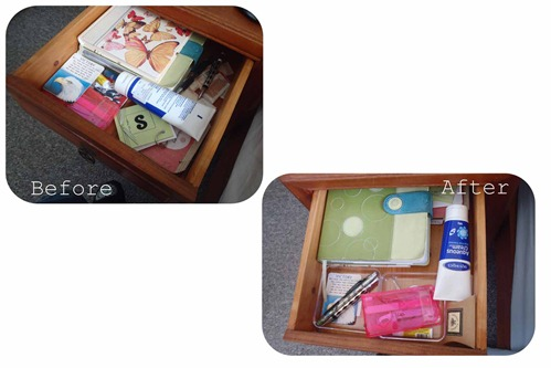 Bedside table organisation 1