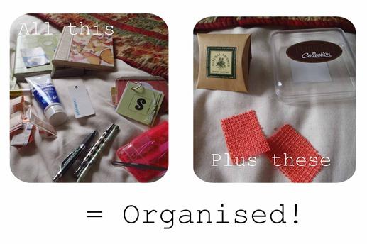 Bedside table organisation 2